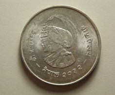 Nepal 20 Rupee 1975 Silver - Népal