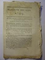 BULLETIN DES LOIS De 1812 - ITALIE ROME CREATION DEPOT MENDICITE - COMTE KERGARIOU PREFET INDRE ET LOIRE - Décrets & Lois