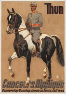 Travel Postcard Concours Hippique Thun 1934 (v) - Reproduction - Pubblicitari