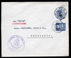 A5922) Curacao Netherlands Ship Letter 10.03.23 To Maracaibo / Venezuela - Niederländische Antillen, Curaçao, Aruba