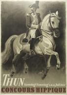 Travel Postcard Concours Hippique Thun 1939 (v) - Reproduction - Pubblicitari