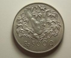 Indonesia 5000 Rupiah 1974 Silver - Indonésie