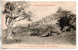 07. Environs De Valence. Ruiens Du Village Féodal De Crussol. Coins émoussés - France