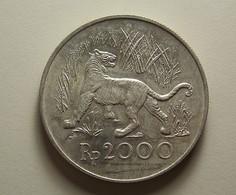 Indonesia 2000 Rupiah 1974 Silver - Indonésie