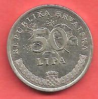 50 Lipa , CROATIE , Acier Plaqué Nickel , 1995 , N° KM # 8 - Croatie
