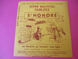 Buvard/Biscottes/St HONORE/Super Biscottes Sablées/La Cigale Et La Fourmi/ VAUREAL/Donville/Vers 1940-60  BUV420 - Zwieback