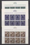 Liechtenstein 1958 Christmas 3v Bl Of 8 (part Of Sheetlet) ** Mnh (41880) - Liechtenstein