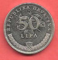 50 Lipa , CROATIE , Acier Plaqué Nickel , 1997 , N° KM # 8 - Croatie