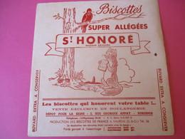 Buvard/Biscottes/St HONORE/Super Biscottes Allégées/Le Renard Et Le Corbeaui/ VAUREAL/Donville/Vers 1940-60  BUV421 - Zwieback