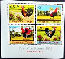 #Tonga 2005** Mi.1719-22 Year Of Rooster, MNH [21;135] - Birds