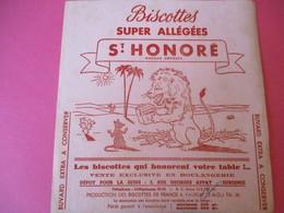 Buvard/Biscottes/St HONORE/Super Biscottes Allégées/Le Lion Et Le Rat/ VAUREAL/Donville/Vers 1940-60  BUV422 - Zwieback