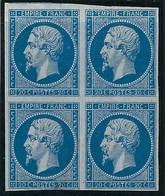 France , N° 14 A * Bloc De 4 ( Plis, Voir Scan ) - 1853-1860 Napoléon III