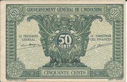 INDOCHINE  50 Cents Nd(1942)  -- UNC -- - Indochine