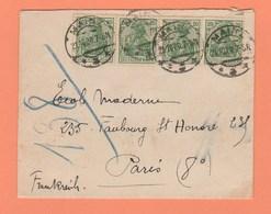 LETTRE ALLEMAGNE OBLITERATION MAINZ POUR PARIS DE 1920 - Allemagne