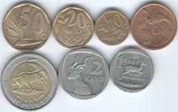 South Africa - 2006 - 5, 10, 20 & 50 Cents; 1, 2 & 5 Rand - Afrique Du Sud