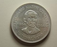 Philippines 1 Peso 1964 Silver - Philippines