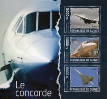 Guinee  - 2014  -   Le CONCORDE  -  3v Feuillet -  Neuf/Mint MNH - Concorde