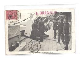 POSTE NAVALE CP CUIRASSE BRENNUS DU 11 JUIN 1907 VOIR VERSO DE EMILE POUR  LOUIS LEFEVRE A BORD DE LA J D'ARC - Marcophilie (Lettres)