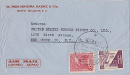 ECUADOR 1946 Cover To USA.BARGAIN.!! - Ecuador