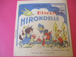 Buvard/Biscottes/HIRONDELLE/La Biscotte Naturelle/Le Chat La Belette Et Le / SPRAE/CORBEIL-ESSONNES/Vers 1940-60  BUV425 - Zwieback