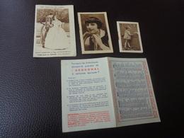 Lot De Petits Calendriers Publicite 1933-1939-1930----tessier A Rochefort-u-st Granier Et Mag Lemonnier-massiou - Calendriers