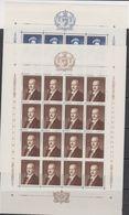 Liechtenstein 1960 Definitives 2v Sheetlets (unfolded) ** Mnh (F7684) - Liechtenstein