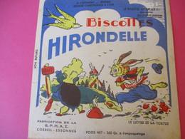 Buvard/Biscottes/HIRONDELLE/La Biscotte Naturelle/Le Lièvre Et La Tortue / SPRAE/CORBEIL-ESSONNES/Vers 1940-60  BUV426 - Zwieback