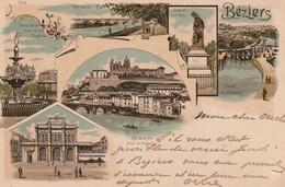 34/ Béziers - Carte Précurseur Multi Vues Datée De 1898 - Beziers