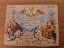 Chromo Almanac Calendrier 1868 Rimmel Parfumeur Les Sept Ages De Shakespeare Londres Paris Rue De L'Ecuyer 51 Bruxelles - Autres