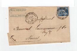 Sur Partie De Lettre Pour Nîmes Type Sage 15 C. Bleu CAD Castelsarrasin 1882. Cachet Nîmes Et Toulouse. (1112x) - Marcophilie (Lettres)
