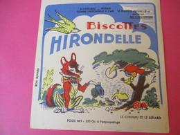 Buvard/Biscottes/HIRONDELLE/La Biscotte Naturelle/Le Corbeau Et Le Renard / SPRAE/CORBEIL-ESSONNES/Vers 1940-60  BUV428 - Zwieback