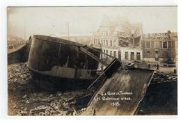 TOURNAI - LA GARE DE TOURNAI. LES CHATEAUX D'EAU 1918 (photo Carte) - Doornik