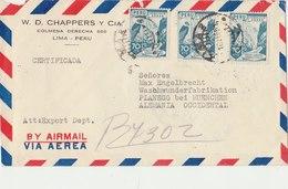 PERU 1951 Cover To GERMANY.BARGAIN.!! - Peru