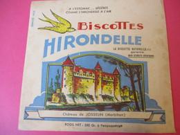 Buvard/Biscottes/HIRONDELLE/Biscotte Naturelle/Château Josselin/MORBIHAN / SPRAE/CORBEIL-ESSONNES/Vers 1940-60  BUV429 - Biscottes