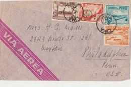 PERU 1941 Cover To USA.BARGAIN.!! - Peru