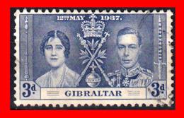 GIBRALTAR  SELLO 1937 KING GEORGE VI CORONATION - Gibraltar
