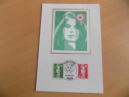 Carte Postale 1er Jour (FDC) France 1991 : Marianne Du Bicentenaire (2 Valeurs) - FDC