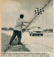 Photo (1960) : L'Ariane Bat 57 Records Mondiaux à Miramas (12 Cm Sur 12 Cm) - Publicités