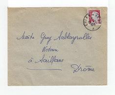 Sur Enveloppe Marianne De Decavis CAD Ambulant Evian à Lyon. (1115x) - Marcophilie (Lettres)