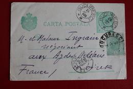 1902      ENTIER  CARTE   POSTALE  DE  5  BANI   VERT  AVEC  COMPLEMENT  POUR  LA  FRANCE - 1881-1918: Charles I