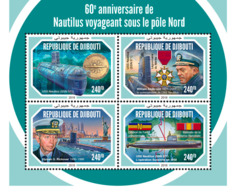 Djibouti 2018    USS Nautilus  World's First Operational Nuclear-powered Submarine S201901 - Djibouti (1977-...)