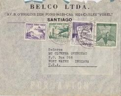 CHILE 1946 Cover To USA.BARGAIN.!! - Chili