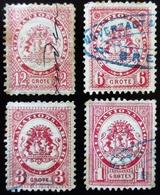 Allemagne Poste Privée BREME  1 Groten 3, 6, 12 Grote Oblitérés - Privatpost
