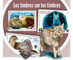 Djibouti 2018    Fauna Stamps On Stamps   WWF  S201901 - Djibouti (1977-...)