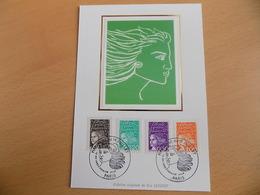Carte Postale 1er Jour (FDC) France 1997 : Marianne Du 14 Juillet (4 Valeurs) - FDC