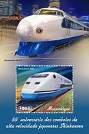 MOZAMBIQUE 2019 - Shinkansen Trains S/S. Official Issue - Trains