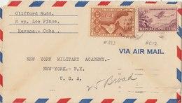 CUBA 1947 Cover To USA.BARGAIN.!! - Cuba