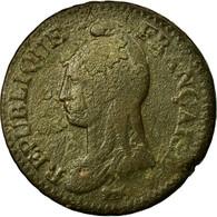 Monnaie, France, Dupré, Decime, AN 8, Strasbourg, B+, Bronze, Gadoury:187a - France