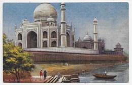 The Taj Mahal From The River, Agra - Tuck Oilette 7237 - India