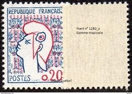 France Marianne De Cocteau N° 1282.c ** Variété, Gomme Tropicale - 1961 Marianne De Cocteau